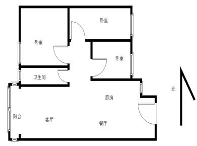 锦华金都3室顶楼,使用面积大,配套大同