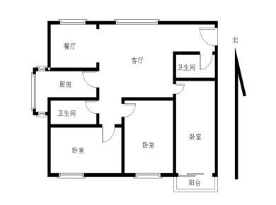 厦大南普陀路2房1厅诚售三面采光 好房好价非常稳定卖