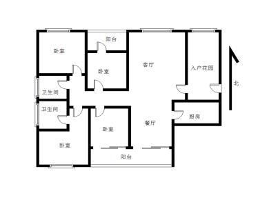 万科金域蓝湾二期,开发商精装4房,赠送平面大,还带入户花园