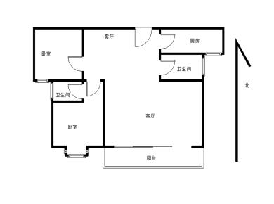 美地五里 客厅带阳台 双卫 精装修