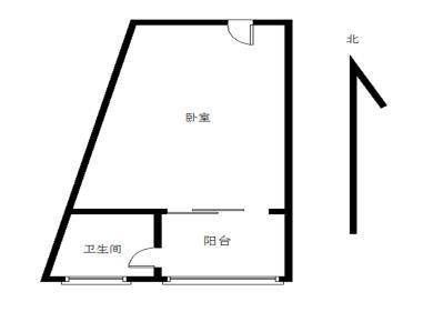 台湾街  建邦大厦   单身公寓 直接拎包入住