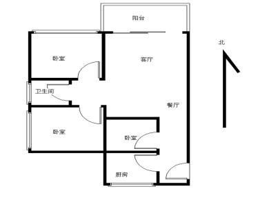 未来橙堡,北师大,2房2厅