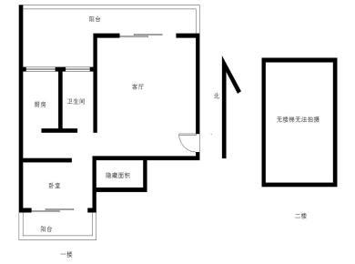 楼中楼赠送率达60%面积,中庭安静,南北透透,看房方便