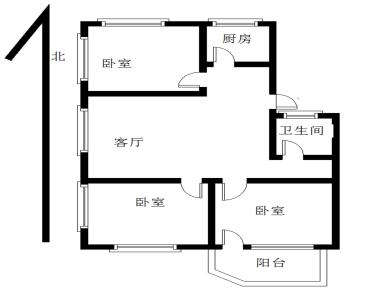 岳阳小区 仙岳路 西南北三面采光低楼层 户型方正 全明