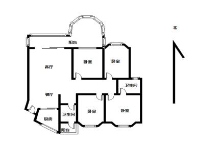 嘉盛豪园三期 电梯四房 精装拎包入住 东南北三面采光 满五年