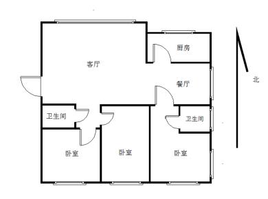 汇利花园,正规大三房,稳定出售。