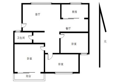 岭兜小区三房两厅,一梯两户,中间楼层,清爽装修