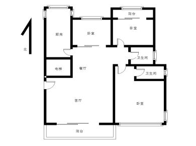 新景缘,精装3房,客厅带阳台朝南