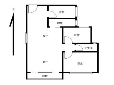 3室2厅1卫1阳台