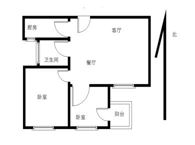 联发欣悦园后排高楼层两居室
