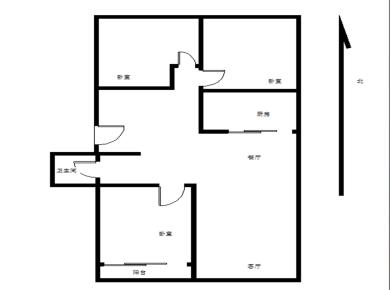 万科精装3房 热门户型 送一个房间 看中庭