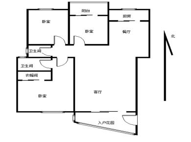 祥店,国贸阳光,前后阳台,南北通透,可做正规四房
