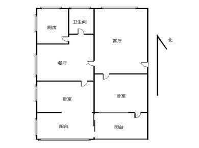 坑内路2室2厅1卫1厨2阳台