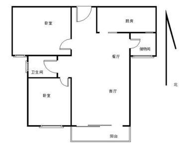 中海锦城国际 自住精装修两房 南北通透 高楼层 二手房