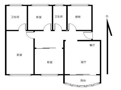仙岳山庄,新出居家3房,南北通透,带2个阳台,格局方正,诚售