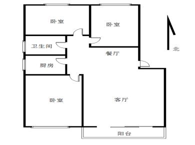 江浦南里正规3房2厅优质楼层南北通透3面采光 地铁二号线站点