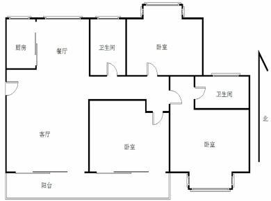 瑞丽花园,3房2厅,中层