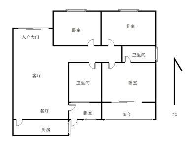 天伦花园117.54平3房2厅2卫仅售500万