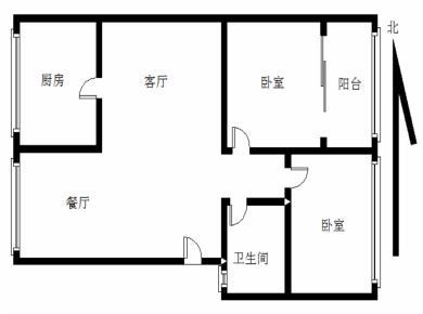 湖明小学 精装大2房 采光 视野 可以低总价 轻松改3房