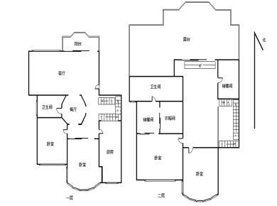 金枫园 火车站 四房楼中楼 南北通透 户型方正