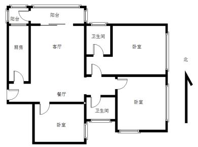 会展片区 精装3房 不靠路 阳台 产权满5年省税 可拎包入住