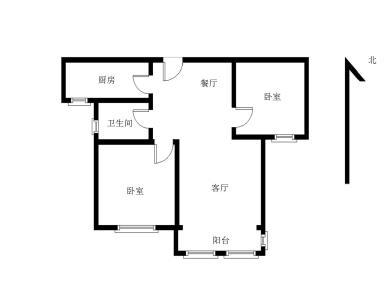 首开领翔国际 正规二房 无按揭 直接过户 看房方便 满二