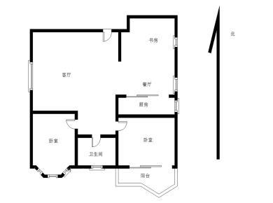 新莲花新龙山 小区中庭 高层精装3居2厅 三面采光 满5唯一