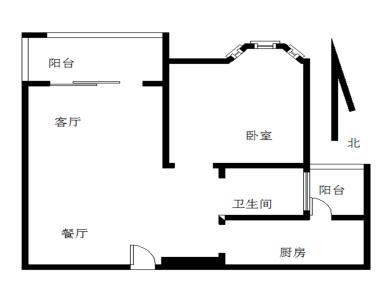 圣地亚哥《1房2厅2阳台》户型方正  高楼层