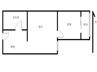 莲花地铁口 花园式小区 松柏中学 正规一房一厅