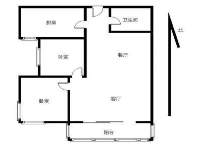 祥店新村05年电梯2房 小区中庭 客厅带阳台朝南