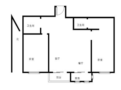 两房 户型方正 采光好 拎包入住 高楼层