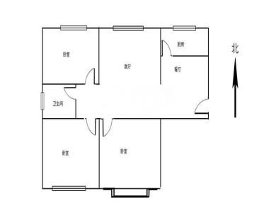汉景嘉园  3居  户型方正