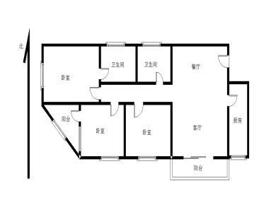 读思明小学 思明苑 步梯三房 全明结构 西南北三面 边套户型