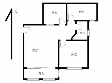 空学位,满五年,业主自住,改好小两房,厅带阳台,婚房好选