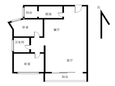 金盛花园,带电梯。房子楼层高,房子格局好。房子明厨明卫。