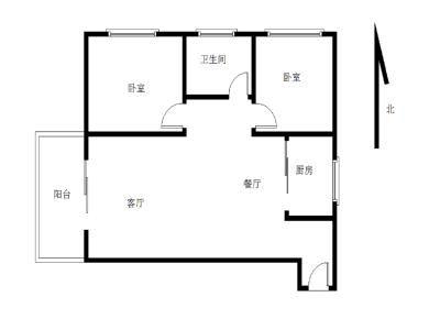 精装修 框架结构 国贸品质 厅带阳台中间楼层 小区正中庭