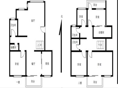 南北通透大5房,4个阳台,电梯顶层楼中楼,满2年,03年小区