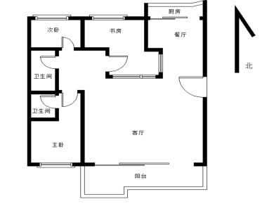 龙祥花园3居电梯满五