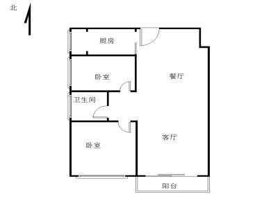 祥店幸福生活正规两房厅带阳台朝南边套全明格局一体四户高层