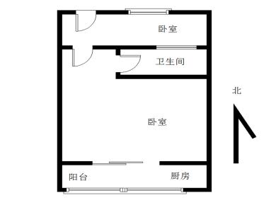 龙池 精装一房一厅 拎包入住 全明格局 朝南