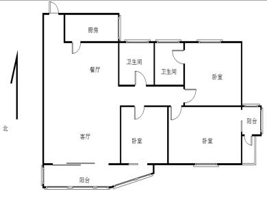 湖里和悦里,韵园公寓,东南北3房,客厅带阳台朝南,全明双阳台
