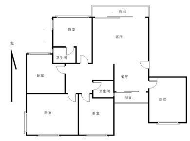 瑞景,嘉盛豪园,电梯高层四室,南北通透。