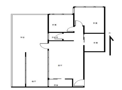 未来橙堡,房房两厅已做3房,满五