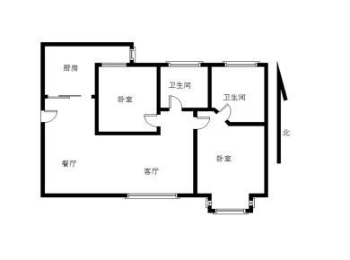 磐基旁联谊广场正规两居室