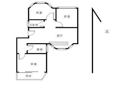 文屏山庄三居室,环境优美,安静不喧闹