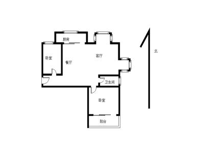 美地雅登 精装自住两房 东边套三面采光 产权满二 汇景商圈