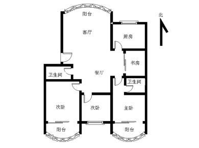 南北通透3+1房 业主居家装修 定期打扫 楼层好