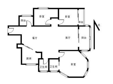 浪琴湾业主自住装修,户型方正,三房两厅