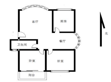 金磊花园 两房朝南 南北通透 双阳台 楼层好
