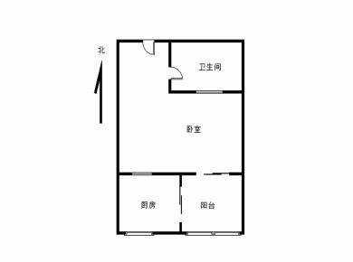 源通中心 思北小学 朝南一房 带阳台 有正规厨房带管道煤气